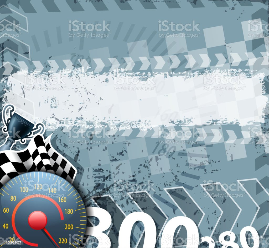 drawn of vector racing sport banner. This file of transparent and...