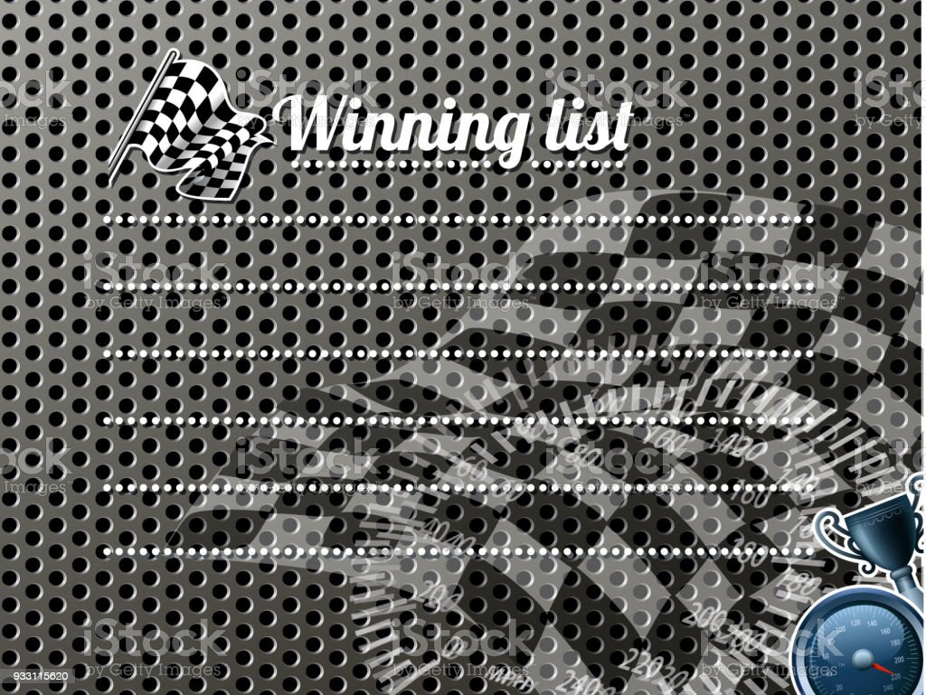 drawn of vector motorsport grill.This file has been used illustrator...