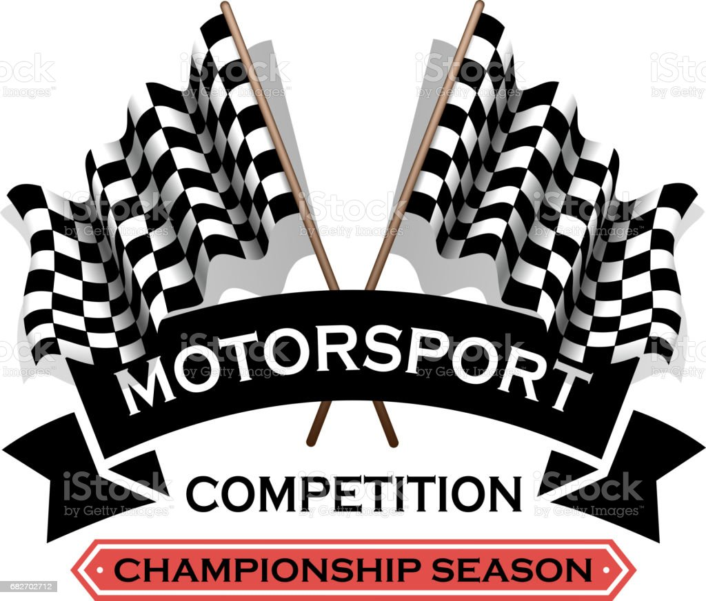 motorsport label vector art illustration