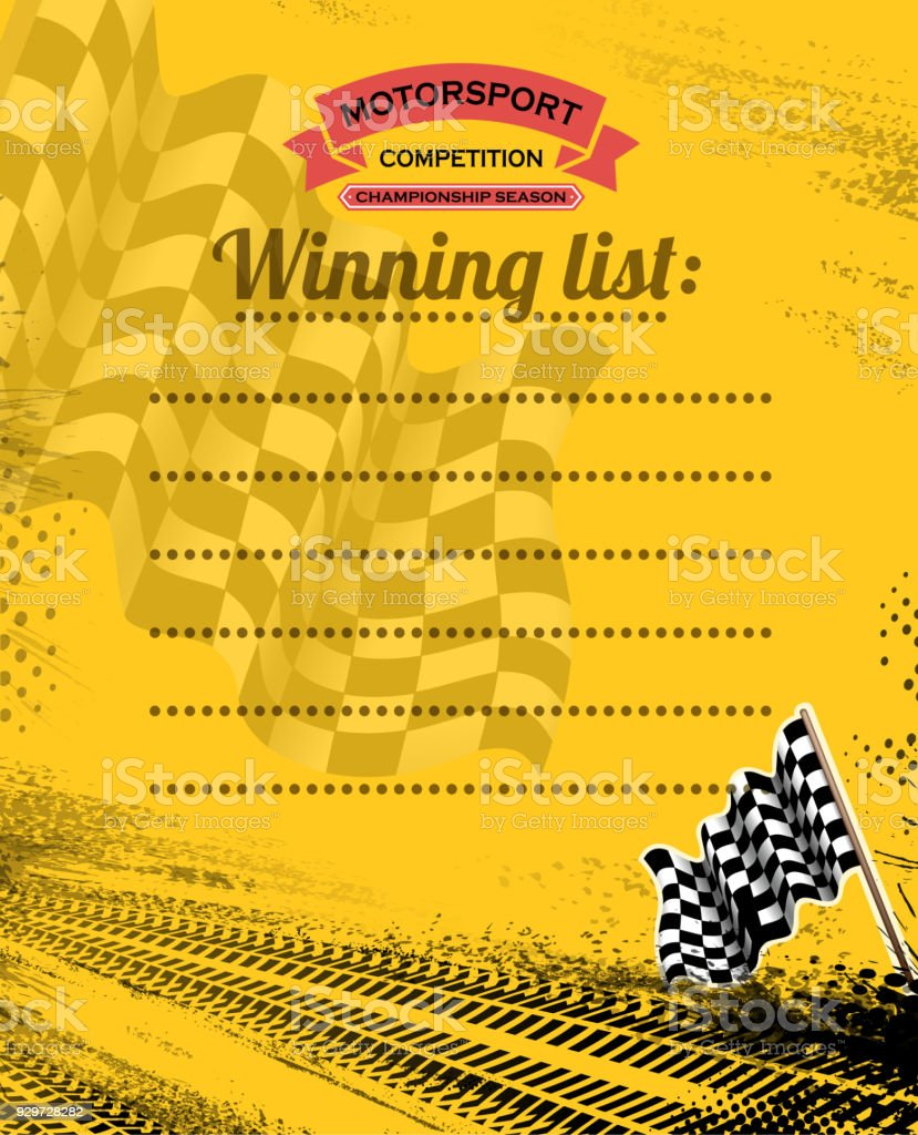 drawing of vector blank motorsport list.This file was recorded with...