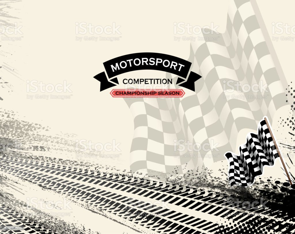 drawing of vector blank motorsport racing background.This file was...