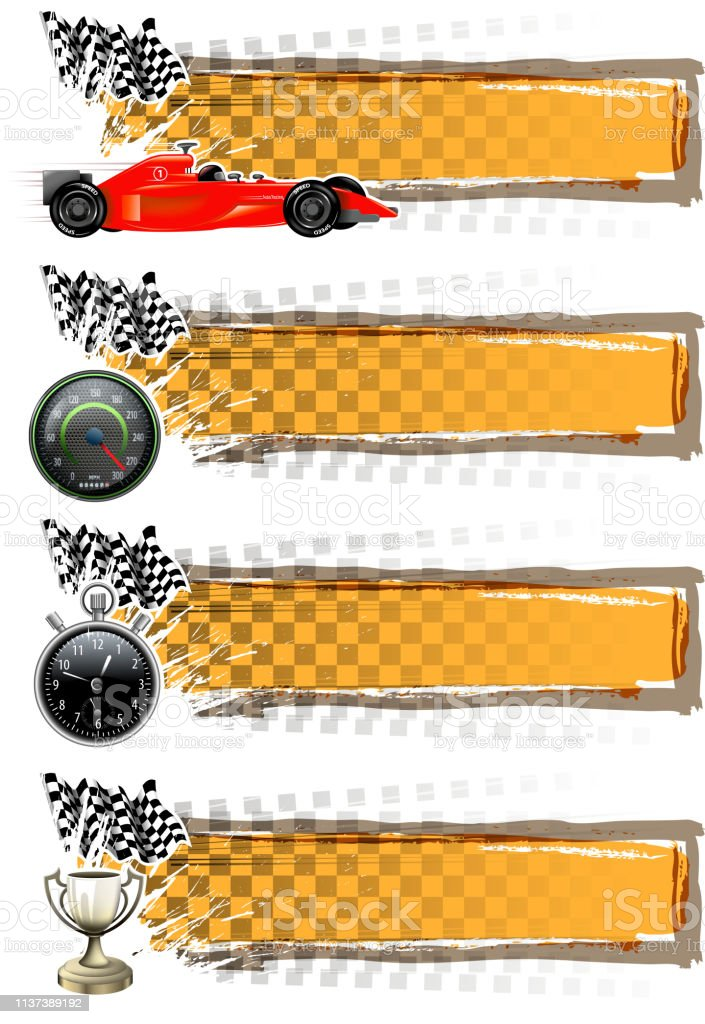 drawing of vector blank motorsport banner. created by illustrator...