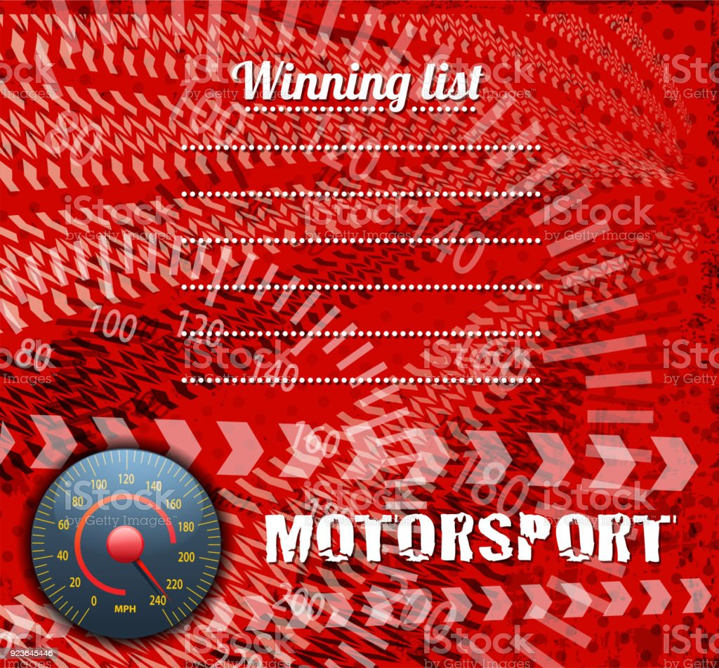 drawn of vector sports race background.This file has been used...
