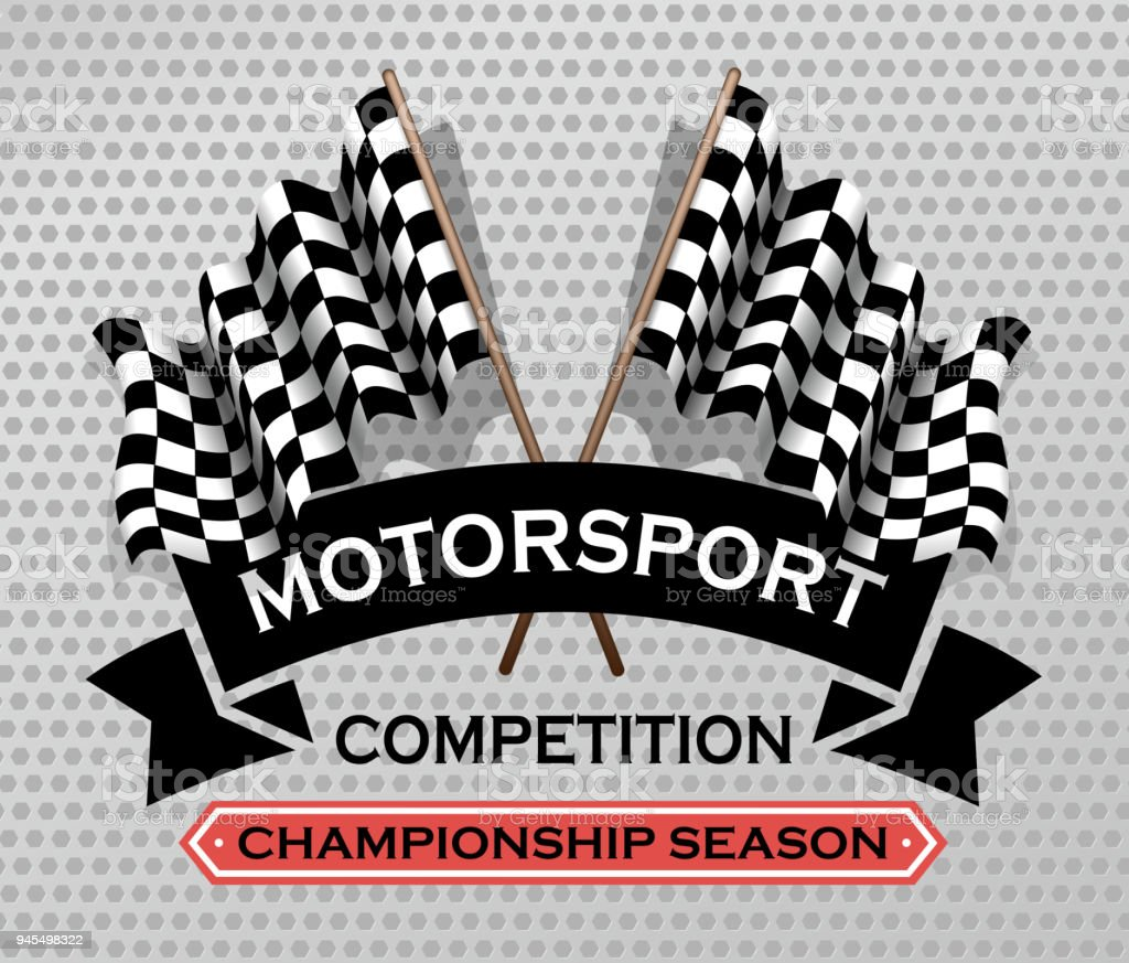 drawing of vector motorsport label.This file was recorded with adobe...