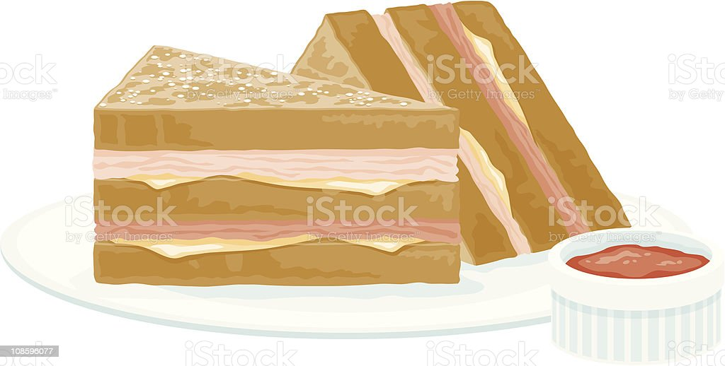 Monte Cristo Sandwich royalty-free stock vector art