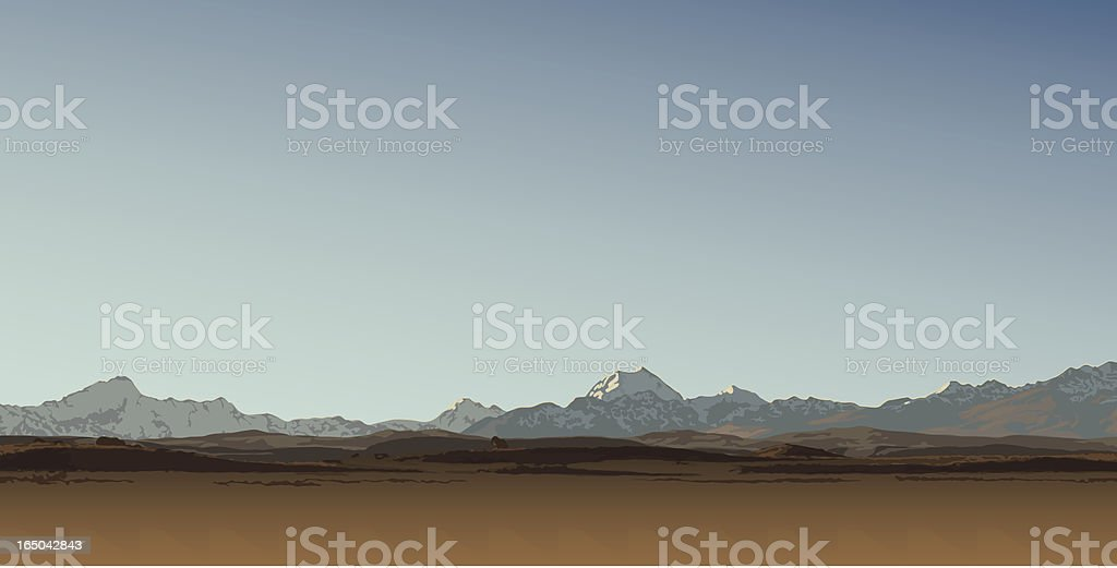 Mount Cook royalty-free stock vector art