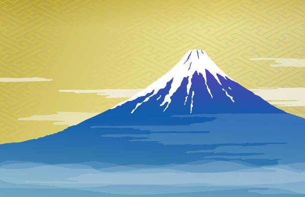 富士山と雲 - 富士山点のイラスト素材/クリップアート素材/マンガ素材/アイコン素材