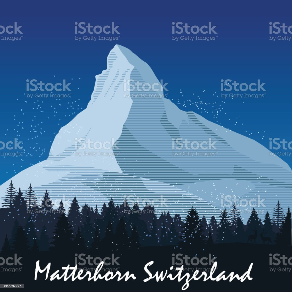 Mount Matterhorn vector art illustration