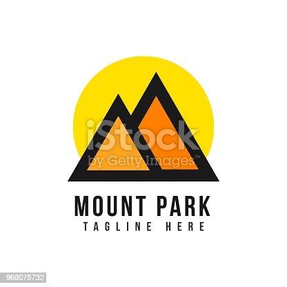 Mount Park icon Vector Template Design