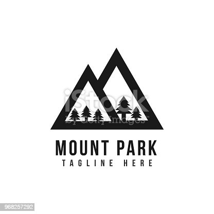 Mount Park icon Vector Template Design