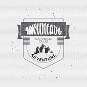 Mountain adventure and expedition insignia badges It can be used