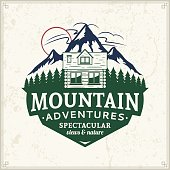 Mountain and outdoor adventures badge