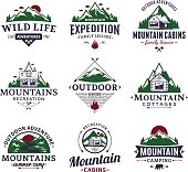 Mountain and outdoor recreation labels