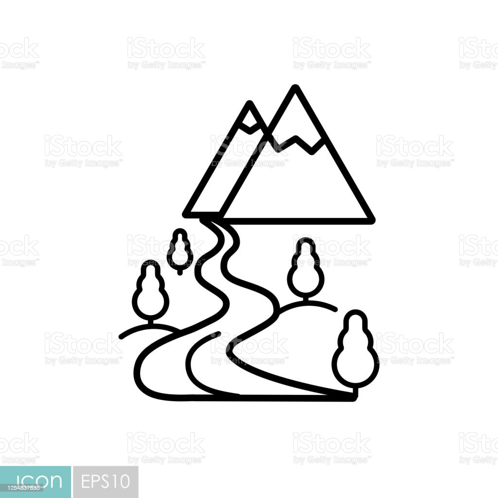 mountain and river vector icon nature sign stock illustration download image now istock mountain and river vector icon nature sign stock illustration download image now istock