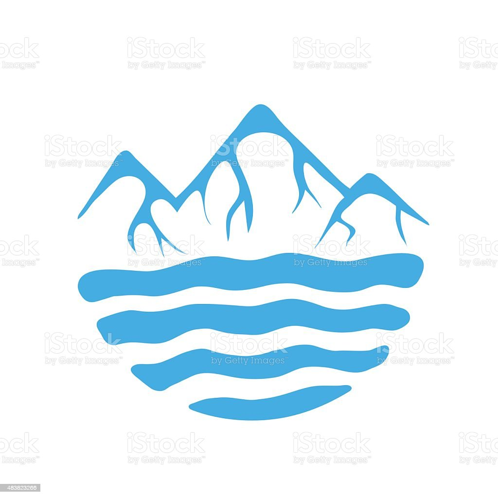 mountain and sea or river vector logo stock illustration download image now istock https www istockphoto com vector mountain and sea or river vector logo gm483823266 70686607