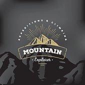 Mountain badge Black