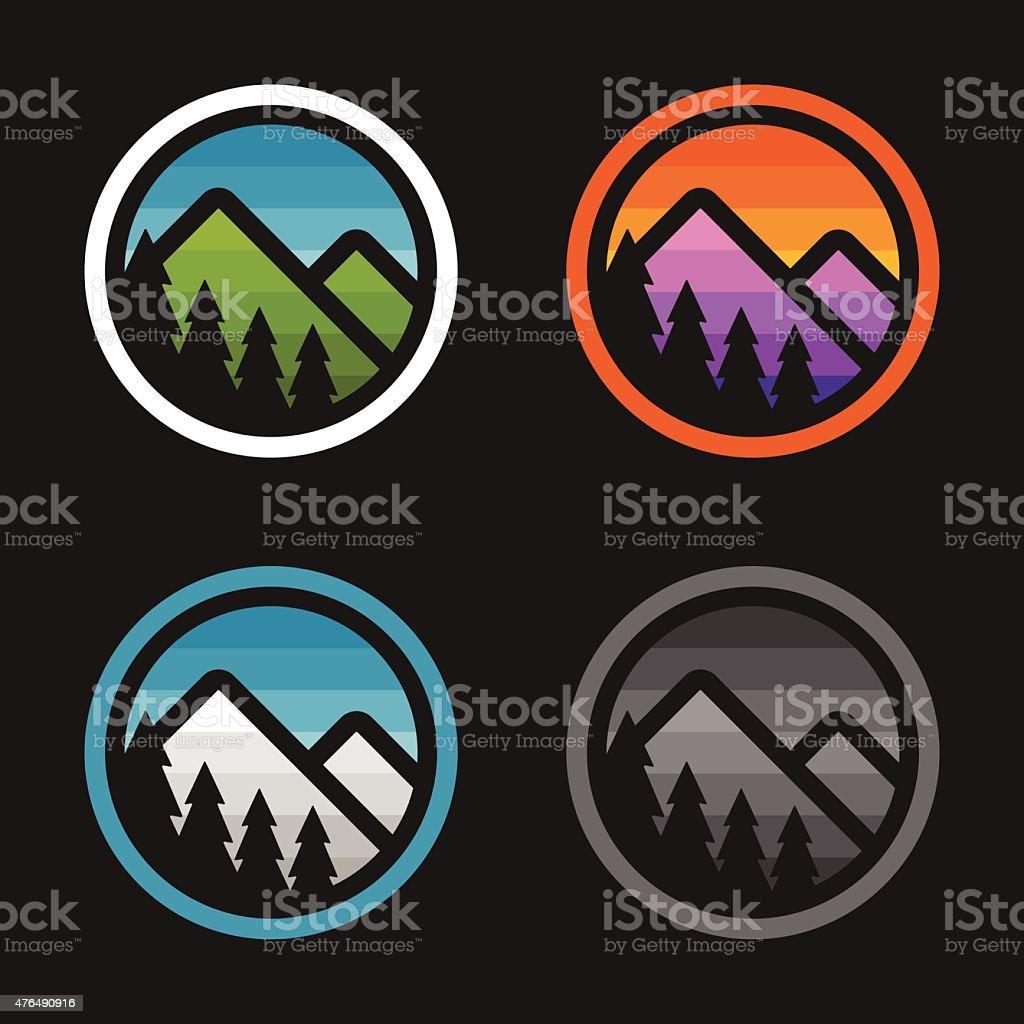 Mountain badges vector art illustration