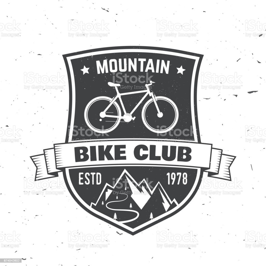 Mountain bike club. Vector illustration vector art illustration