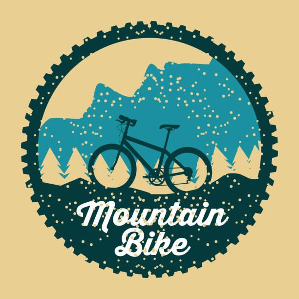 Mountain Bike Grunge Abzeichen Fun-sport – Vektorgrafik