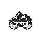 Mountain bike Logo. Abstract mountain bike vector template.