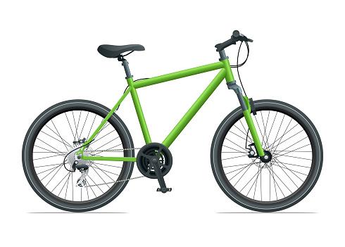 Mountain Bike or Urban Bike isolated on white background vector illustration