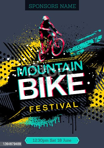 istock Mountain bike poster 1264879459