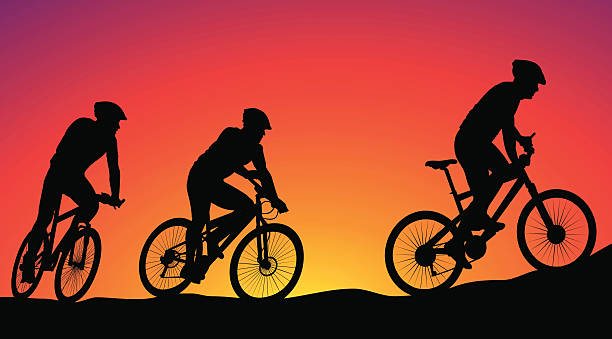 Royalty Free Mountain Biking Clip Art Vector Images Illustrations