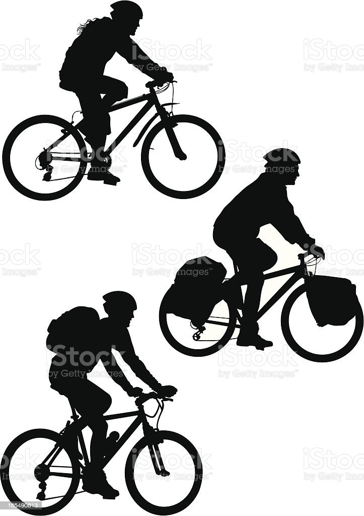 Mountain Bike royalty-free stock vector art
