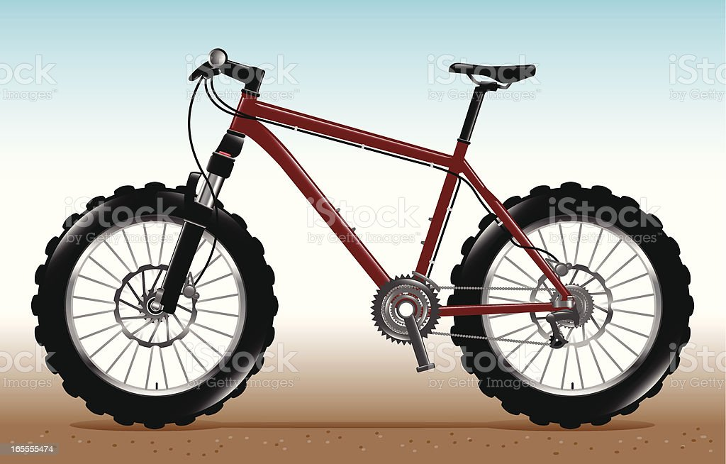 Mountain Bike royalty-free stock vector art