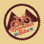 mountain bike vintage style poster vector illustration