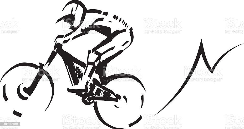 Mountain biker illustration. royalty-free mountain biker illustration stock vector art & more images of 2015