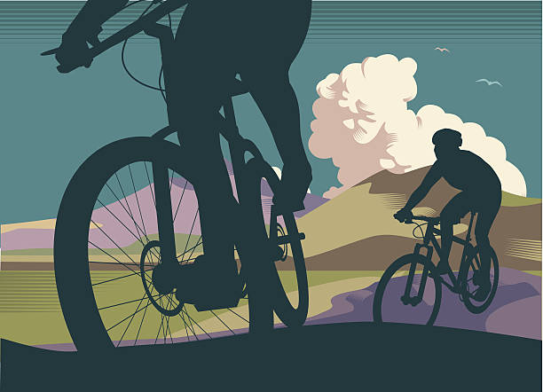 mountain bikes - bike stock illustrations, clip art, cartoons, & icons