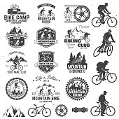 Mountain biking collection. Vector illustration