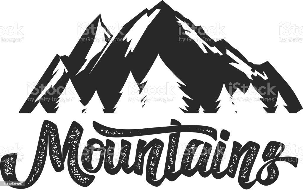 Plantilla De Campo Emblema De Montaña Elemento De Diseño Para La ...