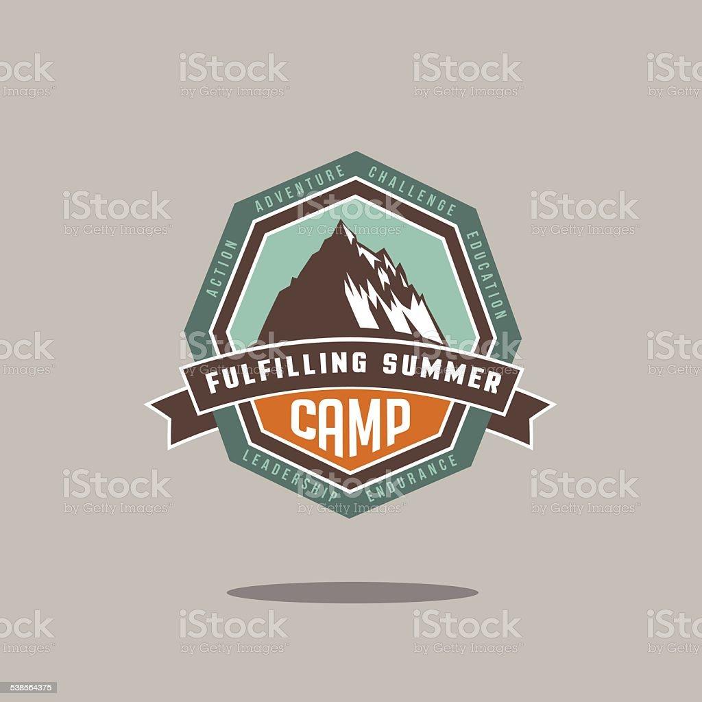 Mountain camp icon vector art illustration