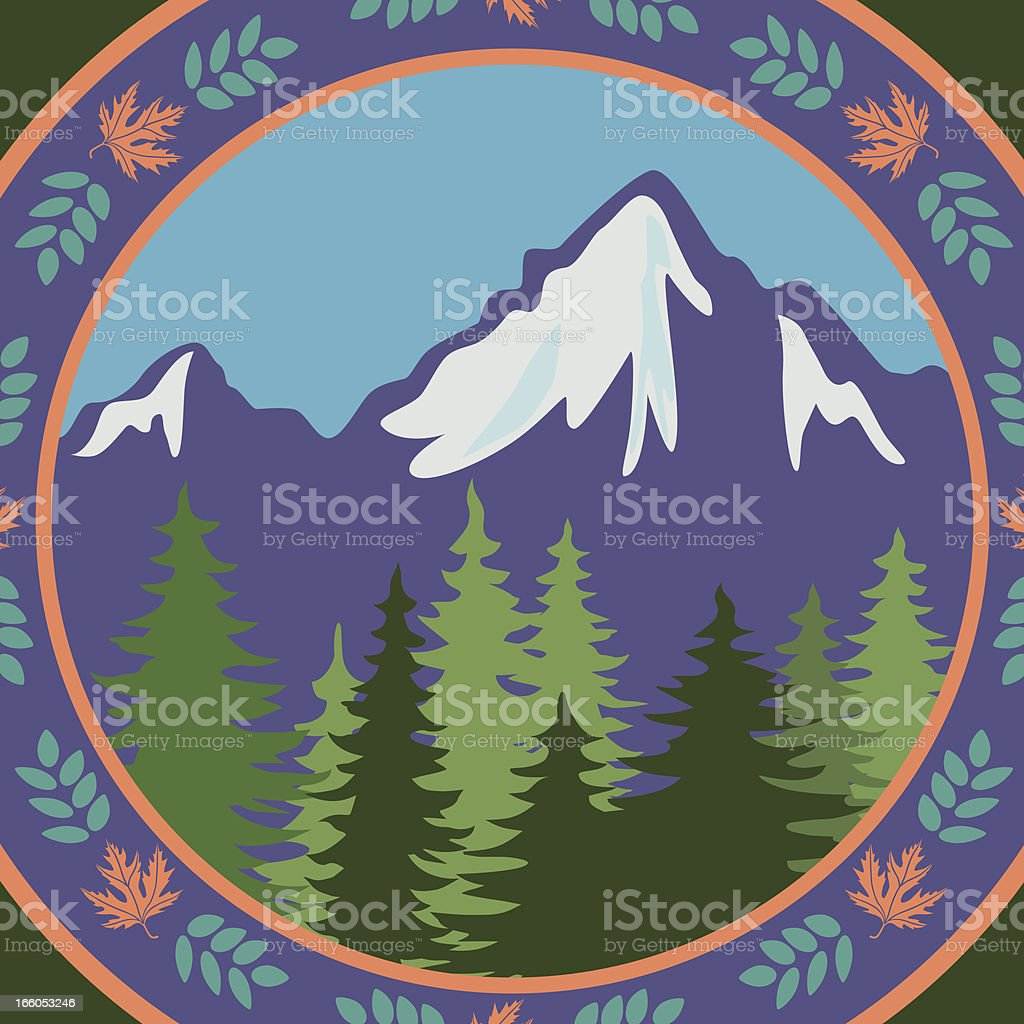 mountain design vector art illustration