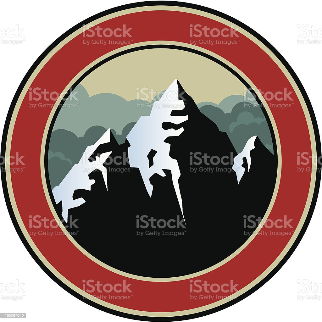 mountain emblem royalty-free mountain emblem stock vector art & more images of banner - sign