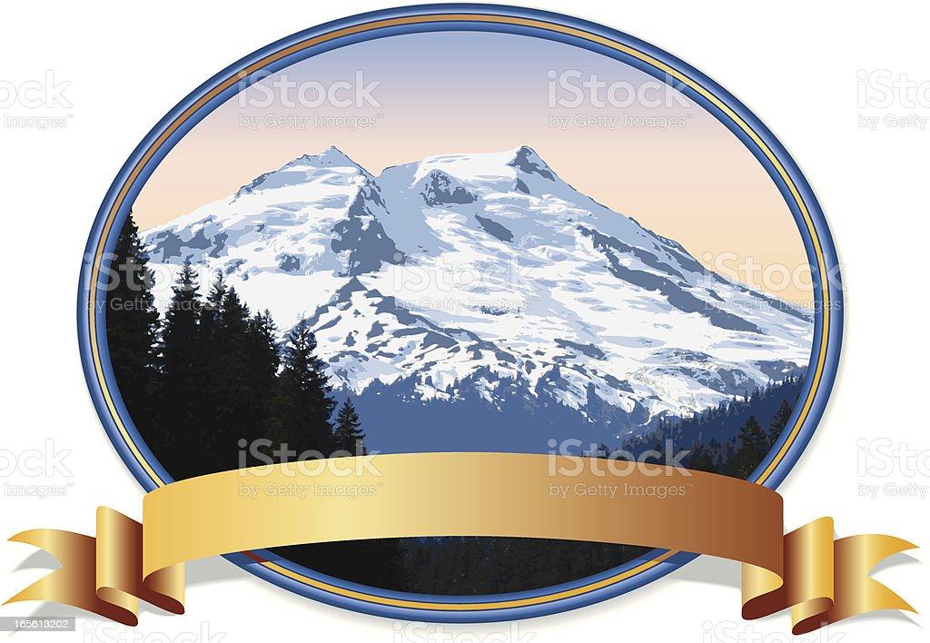 Mountain Emblem royalty-free stock vector art