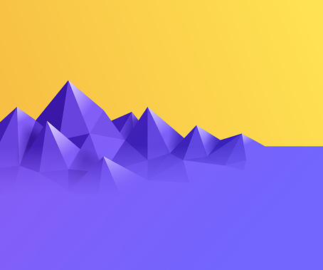 Mountain Gem Prism Background Abstract