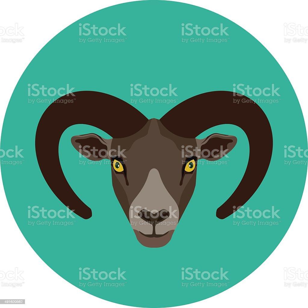 Mountain Goat vector art illustration