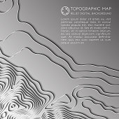 Mountain hiking. Map line of topography. Vector abstract topographic map concept with space for your copy. 3D Cartography concep background. Map mockup infographics. World map Template. Wavy backdrop