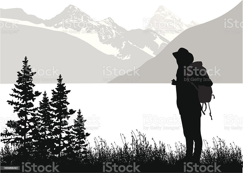 Mountain Hiking royalty-free stock vector art