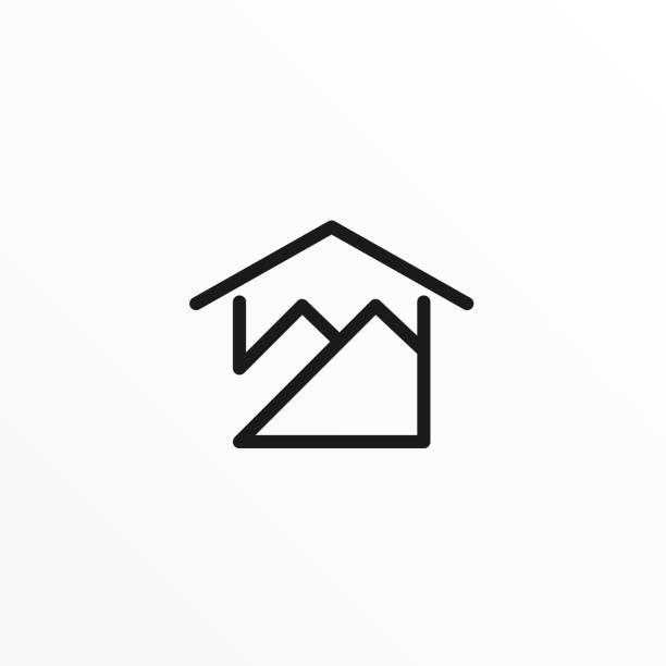 ilustrações de stock, clip art, desenhos animados e ícones de mountain house illustration vector template - isolated house, exterior
