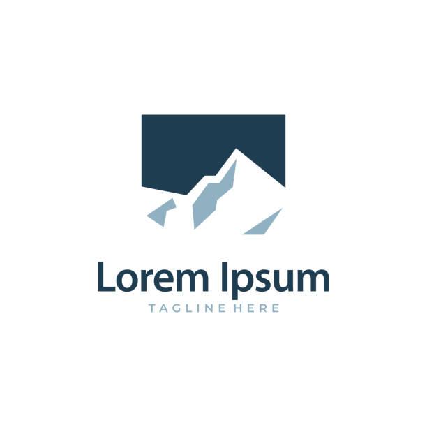 mountain ice everest color - landschaftstattoo stock-grafiken, -clipart, -cartoons und -symbole