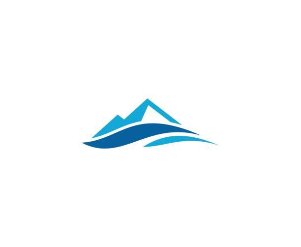 ilustrações de stock, clip art, desenhos animados e ícones de mountain icon - river