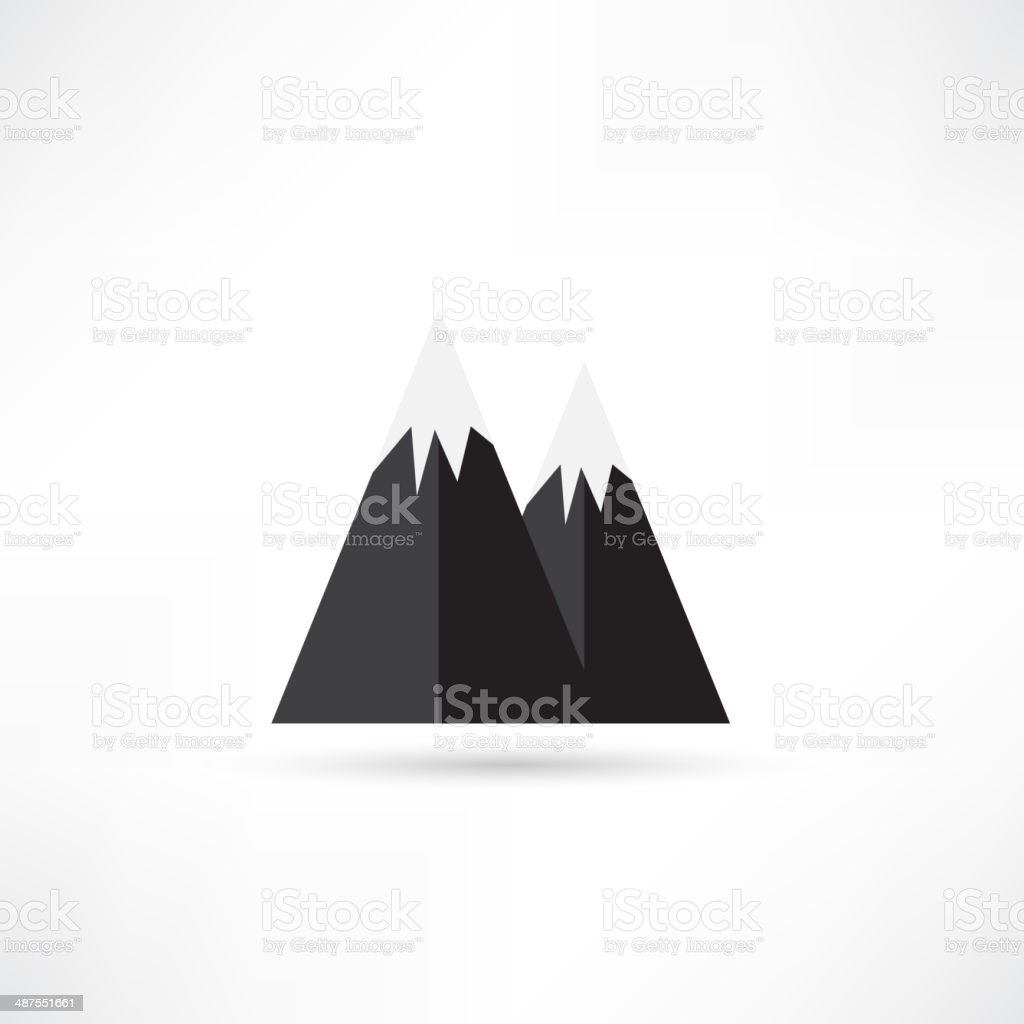 Mountain icon royalty-free stock vector art