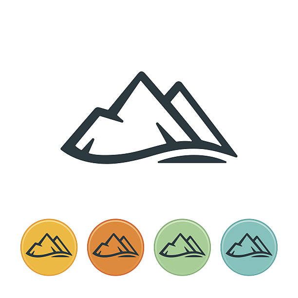Mountain Icon Mountain range icon. File Type - EPS 10 mountain top stock illustrations