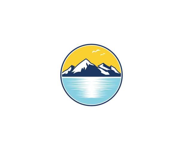 Mountain icon vector art illustration