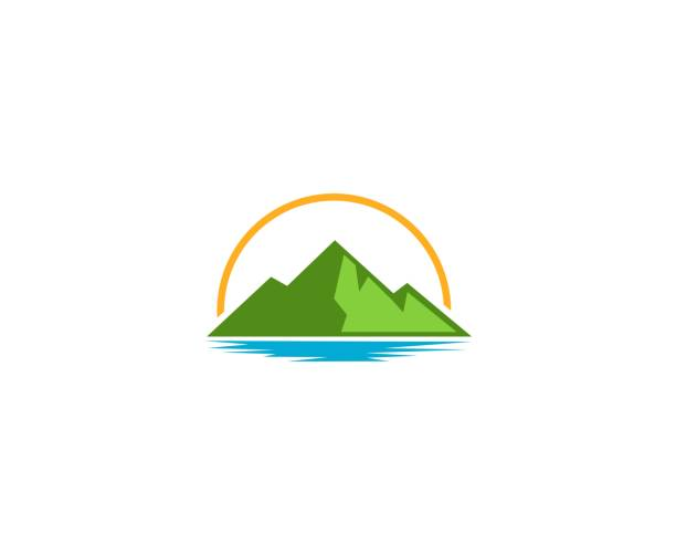 Mountain icon This illustration/vector you can use for any purpose related to your business. lake stock illustrations