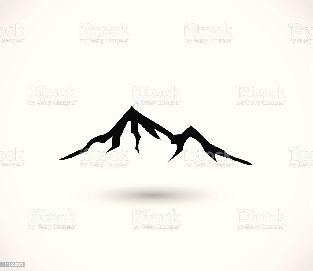 Mountain icon vector vector art illustration